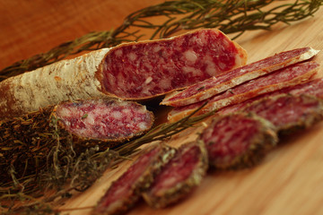 Dried french sausages