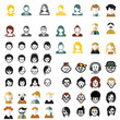 social media avatars template collection