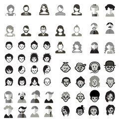 social media avatars template collection black