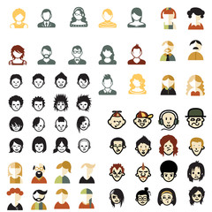 social media avatars template collection color