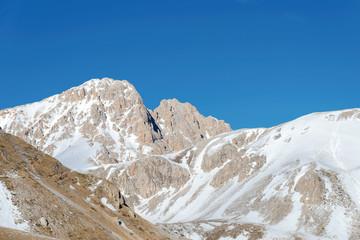 Corno Grande the highest peak of the Apennines, Abruzzo Italy