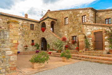 Old stone house in Toscany