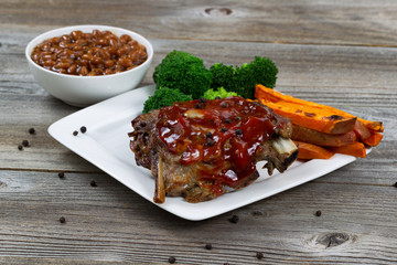 BBQ Ribs with side dishes