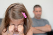 Little girl having a temper tantrum