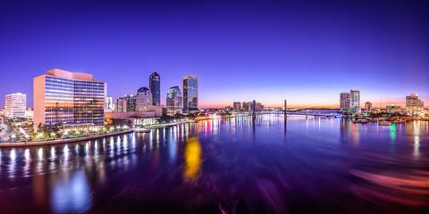 Jacksonville, Florida, USA City Skyline on St. Johns River