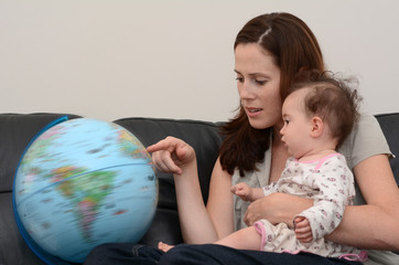 Mother and Baby Search and Examining the Globe