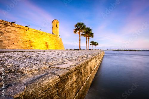 Fotobehang Vestingwerk St. Augustine, Florida, USA at Castillo de San Marcos Monument