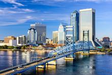 """Постер, картина, фотообои """"Jacksonville, Florida, USA City Skyline"""""""