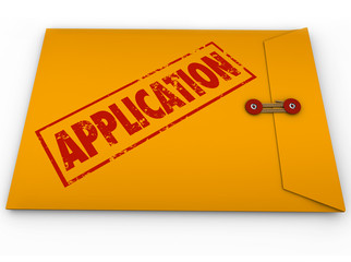 Application Yellow Envelope Submit Apply Job Credit Approval