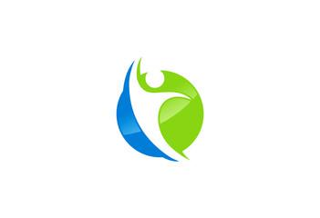 success people sport vector logo