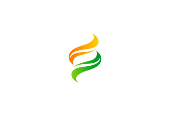 swirl abstract vector logo