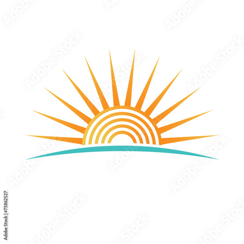 Sunshine with concentric circles logo - 75862527