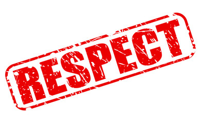 RESPECT red stamp text