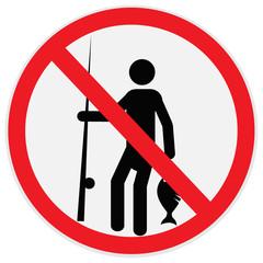 No, fishing, sign