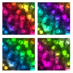set of circle bokeh background