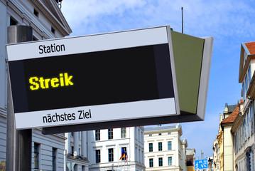 Strassenschild 27 - Streik