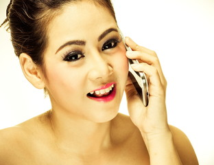 Pretty girl with mobile phone