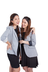 Portrait beautiful businesswomen smiling