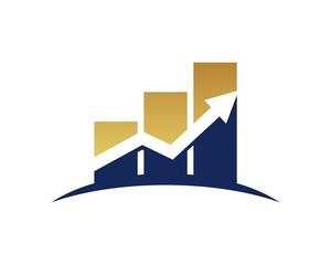 Chart Bar Arrow Logo v.6