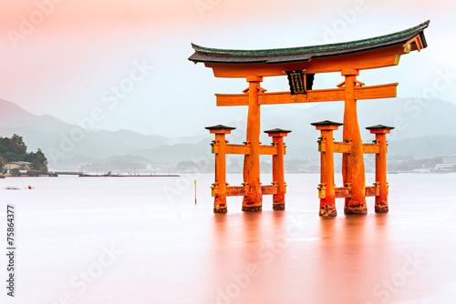 Zdjęcia na płótnie, fototapety, obrazy : Miyajima, The famous Floating Torii gate, Japan.