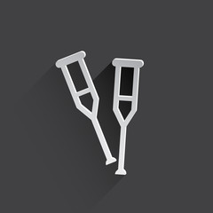 crutch flat icon.