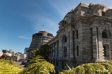 Parliament buildings in Wellington, New Zealand