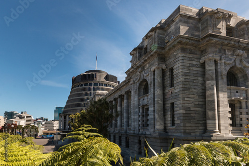 Papiers peints Nouvelle Zélande Parliament buildings in Wellington, New Zealand
