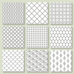 Thin line geometrical seamless pattern