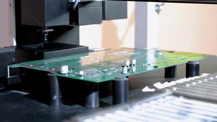 Install components on PCB robot manipulator