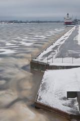Fleuve Daugava gelé