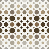 Naklejka Abstract vector seamless background of circles