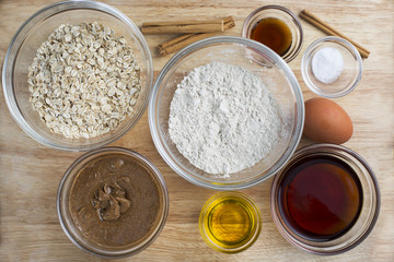 Baking Ingredients from Above