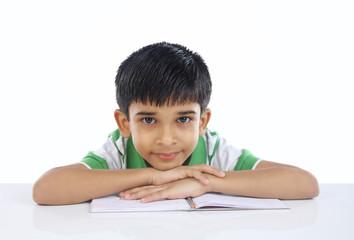 Indian School Boy Posing to Camera