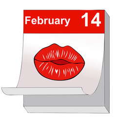 A kiss for Valentine's Day