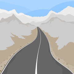 Country road,transport scene vector background