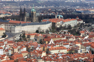 Landscape of St. Vitus Cathedral from Penrin hill
