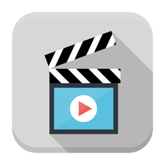Clapboard flat app icon with long shadow