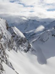 beautiful high mountain peaks