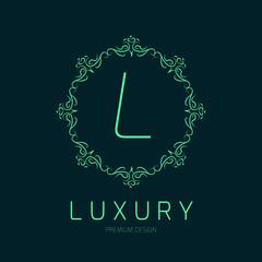Elegant logo design, vector illustration