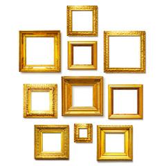 Square gold frames