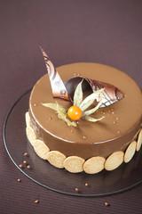 Yellow Plum and Hazelnut Entremet Cake
