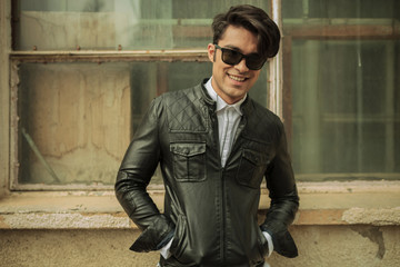 fashion man smiling to the camera