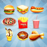 icons fast food - 75874733