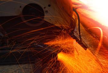 heavy metal grinding in  steel iindutry  factory