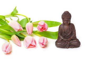 Buddha, Tulpen, Zen