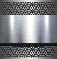 Metal plate texture polished metal background