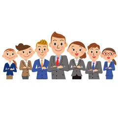 男性中心の実業家グループ