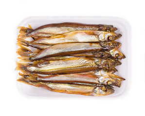 Smoked fishes.