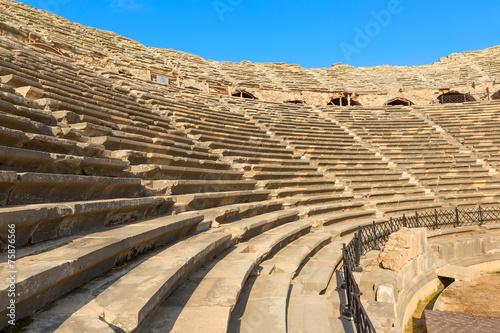 Aluminium Turkey Amphitheatre, ancient ruins in Side Turkey.
