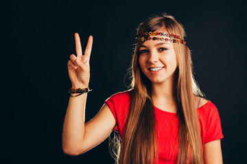 Peaceful woman